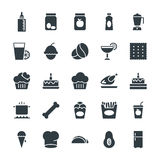 Lebensmittel-kühle Vektor-Ikonen 9 Lizenzfreies Stockfoto