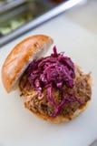 Lebensmittel-LKW BBQ-Sandwich Stockbilder
