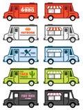 Lebensmittel-LKW-Grafiken Lizenzfreie Stockfotos