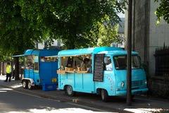 Lebensmittel-LKWs in London Großbritannien Lizenzfreie Stockfotografie