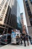 Lebensmittel-LKWs in New York City Stockfotografie