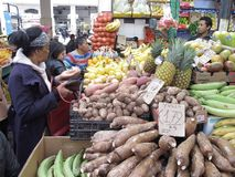 Lebensmittel-Markt in Rom stockbild