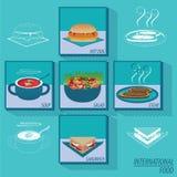 Lebensmittel-Menü und Restaurant Stockfotos