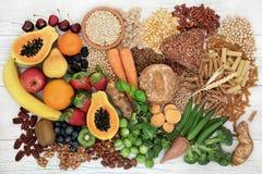 Lebensmittel mit hohem Faser-Inhalt stockfotografie