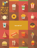 Lebensmittel-Plakat Stockbild