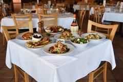 Lebensmittel am Restaurant Stockfotografie