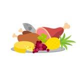 Lebensmittel-Servierplattenvektorillustration vektor abbildung