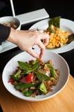 Lebensmittel-Stilist stockfotografie