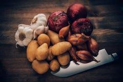 Lebensmittel Stilll-Leben-würzige Bestandteile Stockfoto