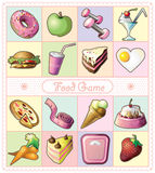Lebensmittel-und Getränk-Ikonen Lizenzfreie Stockbilder