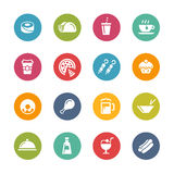 Lebensmittel-und Getränk-Ikonen - 2 -- Neue Farb-Reihe Lizenzfreie Stockfotografie