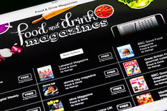 Lebensmittel-und Getränk-Zeitschriften auf iPad stockfotografie