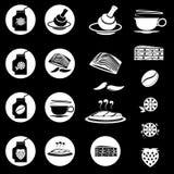Lebensmittel und Getränke Vektor und Ikone Lizenzfreies Stockbild