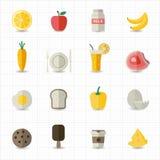 Lebensmittel- und Getränkikonen Lizenzfreies Stockfoto