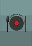 Lebensmittel und Musik Lizenzfreie Stockfotografie