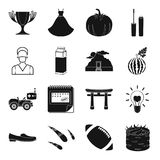 Lebensmittel, Unterhaltung, Hochzeit und andere Netzikone in der schwarzen Art stock abbildung