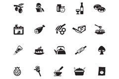 Lebensmittel-Vektor-Ikonen 10 Lizenzfreies Stockfoto