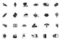 Lebensmittel-Vektor-Ikonen 8 Stockfoto