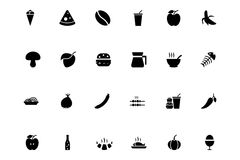 Lebensmittel-Vektor-Ikonen 2 Stockfoto