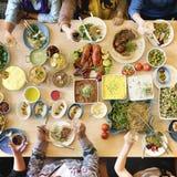 Lebensmittel-Verpflegungs-Küche-kulinarisches feinschmeckerisches Buffet-Partei-Konzept lizenzfreie stockbilder