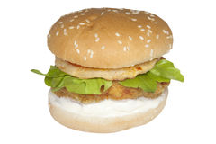 Lebensmittel-Vorrathühnerburger Lizenzfreie Stockfotografie