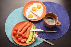 Lebensmittel zum Junggesellefrühstück Lizenzfreies Stockfoto