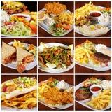 Lebensmittelcollage Lizenzfreies Stockfoto