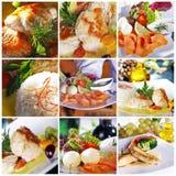 Lebensmittelcollage Stockfotografie