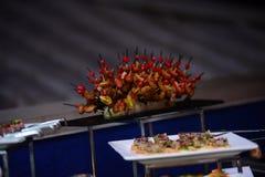 Lebensmitteldekoration für alle Funktionen Stockbild