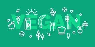 Lebensmittelfahnen des strengen Vegetariers Stockbilder
