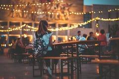 Lebensmittelfestival in Tirana-Mitte Stockbilder