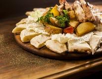 Lebensmittelfleischplatte Stockfoto