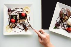Lebensmittelfotolieferungsgeschäfts-Blogkonzept Lizenzfreie Stockbilder