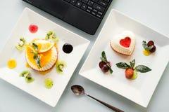 Lebensmittelfotolieferungsgeschäfts-Blogkonzept Stockfoto
