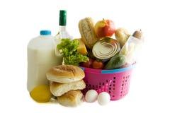 Lebensmittelgeschäft busket Lizenzfreie Stockbilder