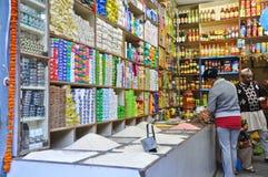 Lebensmittelgeschäft in der indischen Art in Pelling Stockbild