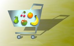 Lebensmittelgeschäft-Einkaufen stock abbildung