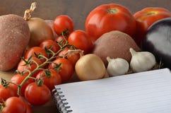 Lebensmittelgeschäft-Einkaufsliste Lizenzfreie Stockfotos