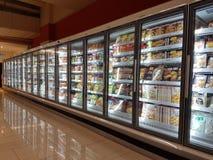 Lebensmittelgeschäft-Material an DA-MÄNNER Supermarkt, Subang USJ, Selangor, Malaysia Stockfoto