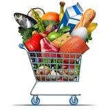 Lebensmittelgeschäft und Lebensmittelgeschäfte lizenzfreie abbildung