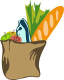 Lebensmittelgeschäftbeutel voll der Lebensmittelgeschäfte Stockfoto