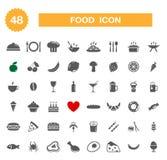 Lebensmittelikone - Satz. Stockfotografie