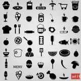 Lebensmittelikonen Lizenzfreie Stockfotos