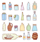 Lebensmittelikonen eingestellt, Vektorillustration Lizenzfreies Stockbild