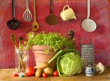 Lebensmittelinhaltsstoffe, Konzept kochend Stockfotos