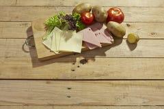 Lebensmittelinhaltsstoffhintergrund Stockfoto