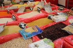 Lebensmittelinhaltsstoffmarkt stockfotografie