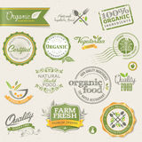 Lebensmittelkennsätze und -elemente Lizenzfreies Stockfoto