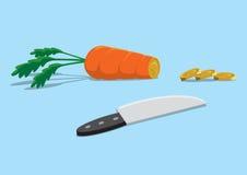 Lebensmittelkosten Stockbild