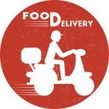 Lebensmittellieferungsikone Flache minimale Vektorillustration für Netz oder Druck Lizenzfreie Stockbilder